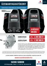 Üzemanyaghatékony DF25A, DF30A modellek