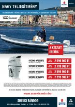 Nagy teljesítményű 100, 115, 140 lóerős csónakmotorok